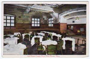 Boston, Mass, Grill Room, Copley Plaza Hotel