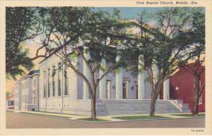 Alabama Mobile First Baptist Church Curteich