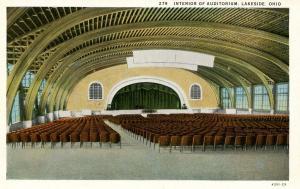 OH - Lakeside. Interior of Auditorium