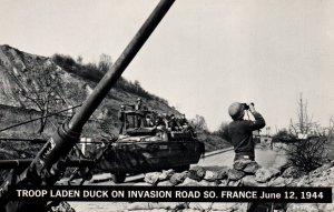 Troop Laden Duck on Invasion Road,South France,June 1944