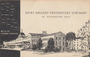 MT. WASHINGTON, Ohio, 1962; AS; Sketch of St. Gregory Preparatory Seminary