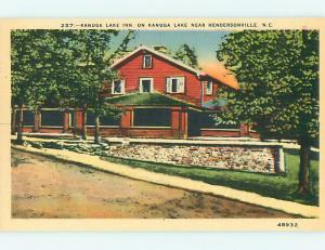 Unused Linen KANUGA LAKE INN MOTEL Hendersonville North Carolina NC u8181@