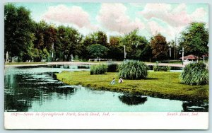 South Bend Indiana~Springbrook Amusement Park~Later Playland~Kids by Water~1911