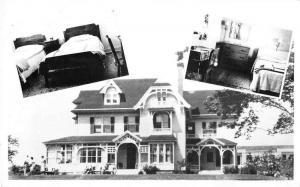 Wolfville Nova Scotia Canada Revaron Lodge Real Photo Antique Postcard J49317