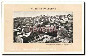 Old Postcard From Palestine Views Chocolaterie d & # 39Aiguebelle