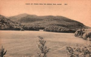Chain-of-Ponds from the Arnold Trail, Maine, ME, Unused Vintage Postcard f8627