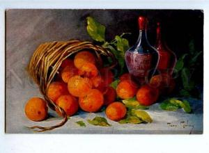 176978 Tangerines in Basket by GOLAY Vintage TSN PC