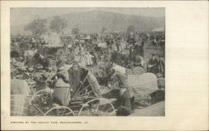 Brattleboro VT Fairy Scene Horse Wagons c1905 UDB Postcard