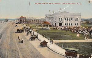 N.J. Long Beach, Ocean Drive and Casino, auto cars, carriages