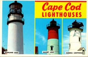 Massachusetts Cape Cod Lighthouses Highland Nauset & Nobska Lighthouses