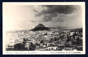 Mount Lycabettus Athens Greece Real Photo unused c1920's