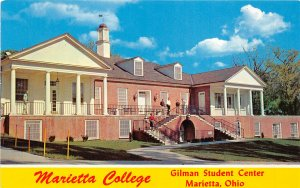 Marietta Ohio 1960s Postcard Marietta College Gilman Student Center
