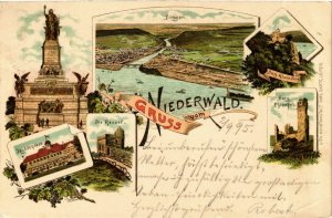 CPA AK Niederwald - Towns - Castles - Monuments - Litho GERMANY (910364)