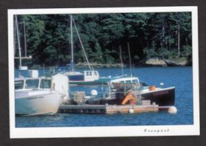 ME Boats Harbor Aquarius FREEPORT MAINE Postcard