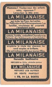 La Milanaise French Shampoo Victorian Trade Card Children Can't Sleep