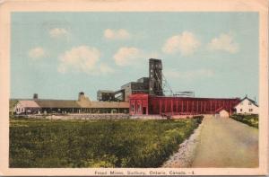 Frood Mines Sudbury ON Ontario Ont c1939 Vintage Postcard D47
