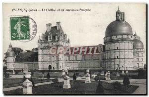 Old Postcard Valencay Chateau and Gardens A La Francaise