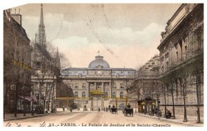 France Paris   Le Palais de Justice  et la Sainte Chapelle