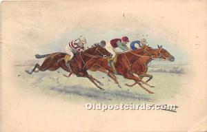 Horse Racing MM Vienne, M Munk Postal Used Unknown, Missing Stamp