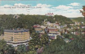 Arkansas Eureka Springs Showing Basin Park And The Crescent Hotels 1933