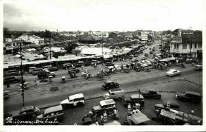 indonesia, JAVA JAKARTA, Pantjoran, Chinese Shopping Center, Car (1950s) RPPC