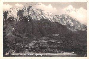 Garmisch Obergrainau mit Zugspitzgruppe Germany 1929