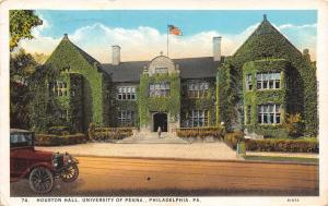 Philadelphia~University of Pennsylvania~Ivy Covered Houston Hall~1926 Postcard