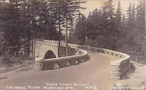 Oklahoma Eagle Creek Bridge Columbia River Highway Real Photo RPPC