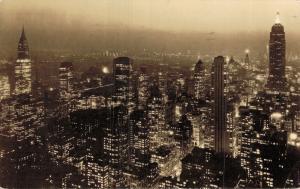USA Rockefeller center New York City at night 01.77