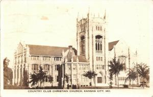 Kansas City Missouri~Country Club Christian Church~1939 Real Photo~RPPC