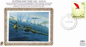 Australia Japanese Lae Air Battle WW2 War Military First Day Cover