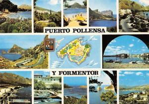 Spain Mallorca Puerto Pollensa y Formentor, map, different aspects, souvenir
