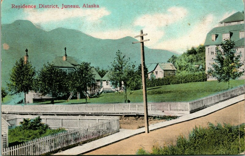 Vtg Postcard Juneau Alaska AK Residence District - Unused Lowman & Hanford 1910s