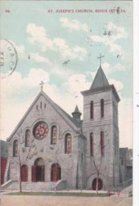Church St Joseph's Church Sioux City Iowa 1911