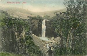 C-1910 Khaarkloof Falls Natal South Africa hand colored Salio postcard 5133