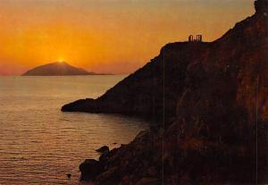 Greece Athens Sounion The temple of Posseidon sunset