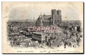 Old Postcard Reims Cathedrale