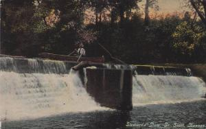 Small Boat near Stewart's Dam, Fort Scott, Kansas, PU-1917