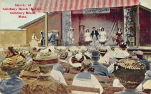 Interior of Salisbury Beach MA Theatre Postcard