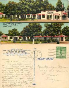 The Denver Auto Court, 1919 S Santa Fe Dr, Denver Colorado CO, 1941 Linen