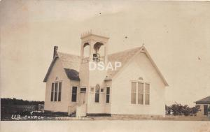 Kansas Ks Real Photo RPPC Postcard c1910 NILES U.B. Church Building
