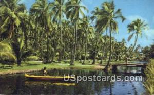 Tranquil Coco Palms Lagoon Island of Kauai HI Unused