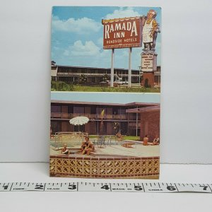 Vintage Postcard Ramada Inn Lake Charles Louisiana 1970s