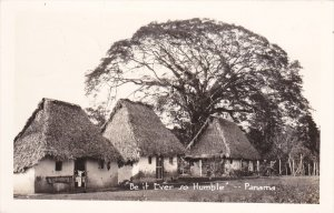 RP: PANAMA: Be it Ever so Humble, Straw Roof Houses, PU-1962