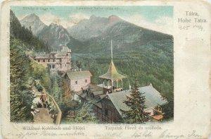 Postcard High Tatra Wildbad Kohlbach and hotel