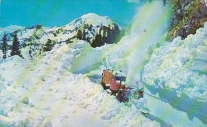 Washington Snow Plow In The Cascades 1959