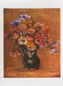 'Anemones' Pierre August Renoir Art Unused Postcard D31