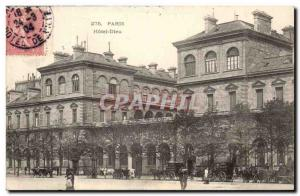 Paris 4 - Hotel Dieu Old Postcard - (hospital hospital)
