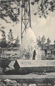 F81/ Hanford California Postcard Artesian Well Water Works 1915