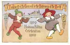 4674    Hudson-Fulton Celebration    Danceiing Danes holding a ship